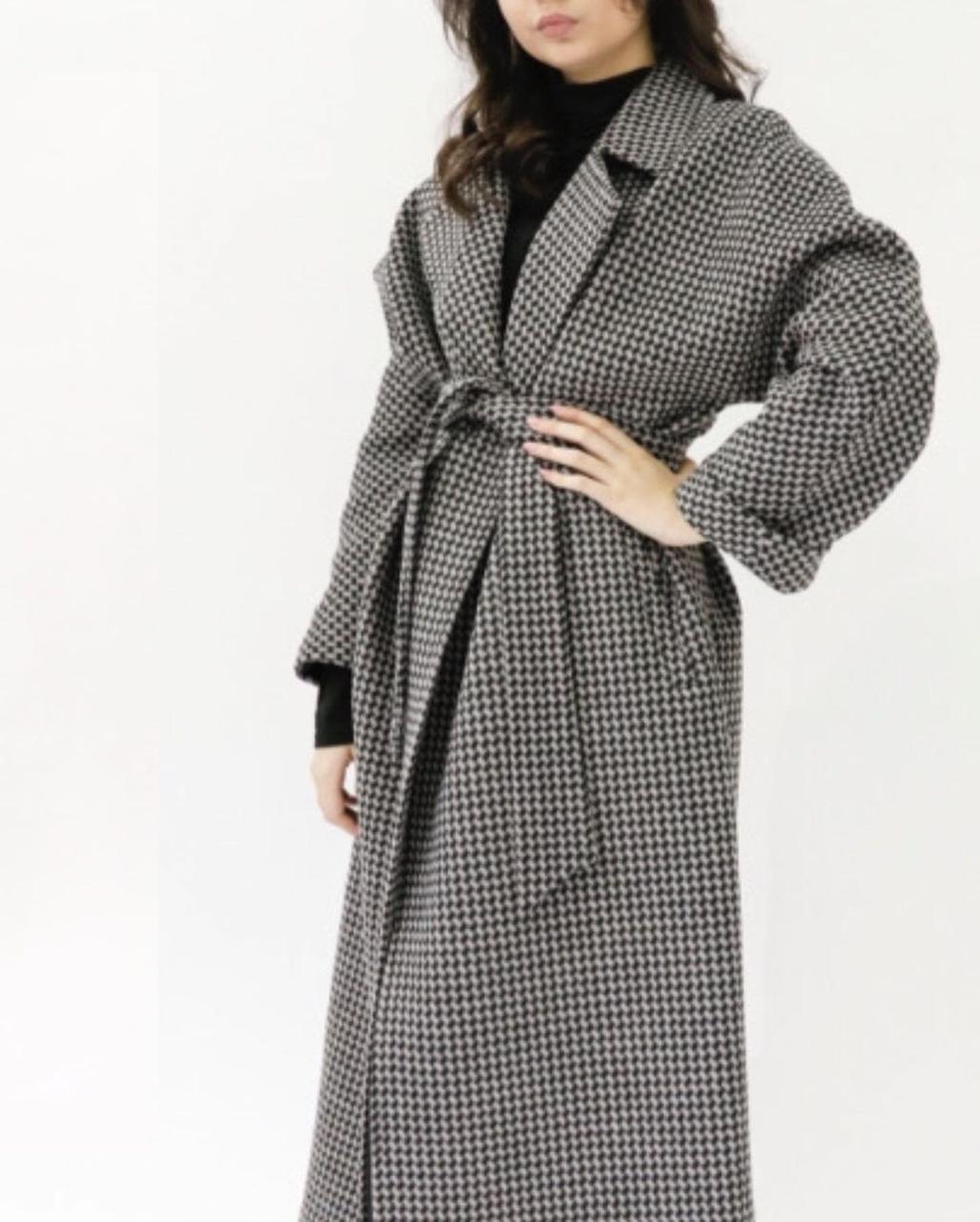 Женское пальто (гусиная лапка)