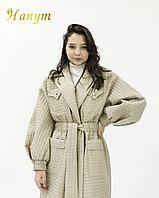 Женское пальто тренч (стеганное)