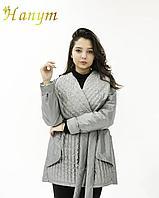 Женский куртка-плащ (короткий, оливковый), фото 1