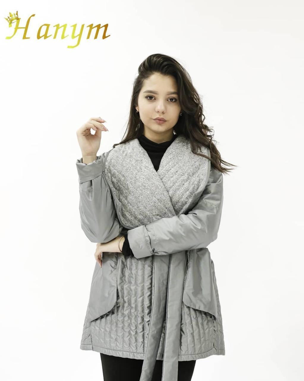 Женский куртка-плащ (короткий, оливковый)