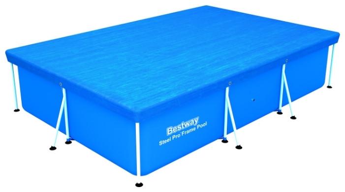 Тент для каркасного бассейна,прямоугольный 300*201 см Bestway
