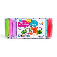 Лёгкий пластилин Genio Kids 12 цветов