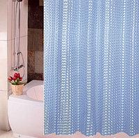 Водонепроницаемая шторка для ванной полупрозрачная 3D Shower curtain 180x180 см голубая