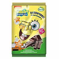 Батончики безглютеновые Губка Боб(Спанч Боб) с шоколадной начинкой, витаминизированные 110г