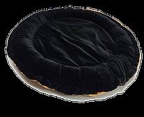 Лежанка круглая, трансформер мех, большая, 100см