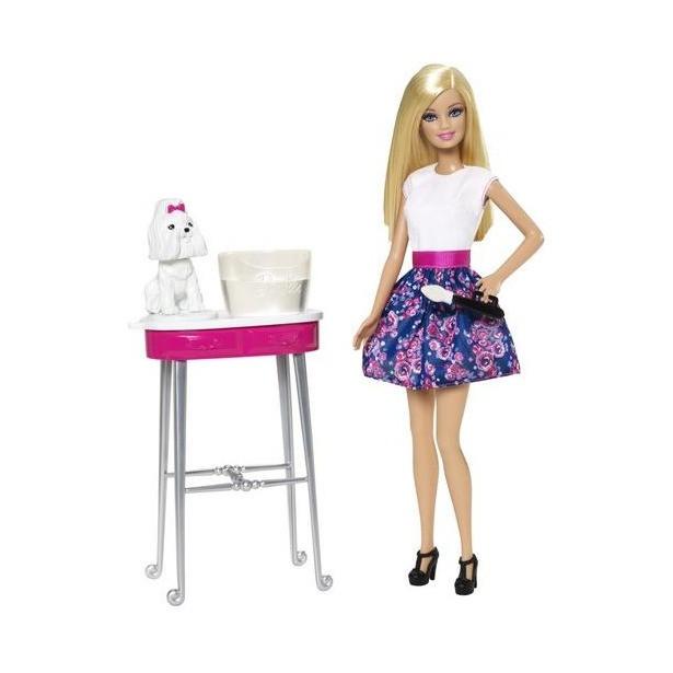 """Barbie Игровой набор """"Зоосалон"""", Кукла Барби с собакой"""