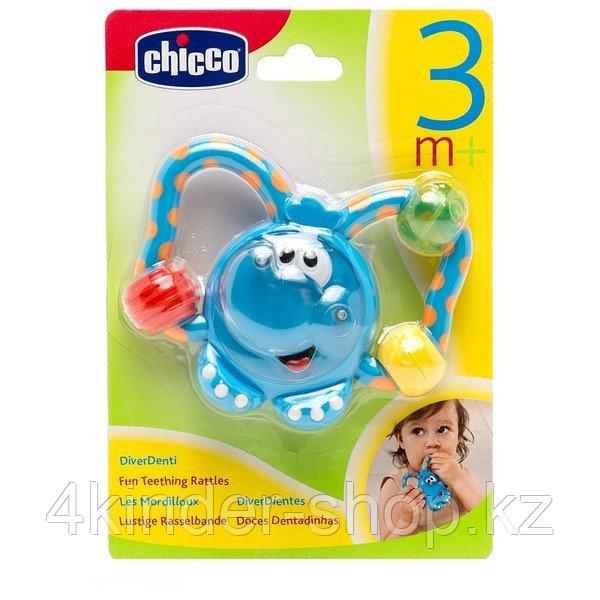 Chicco: Погремушка-прорезыватель Слоник 3м+ - фото 1