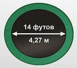 ARLAND Батут премиум 14FT с внутренней страховочной сеткой и лестницей (Dark green), фото 6