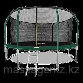 ARLAND Батут премиум 14FT с внутренней страховочной сеткой и лестницей (Dark green)