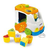 Развивающая музыкальная игрушка-сортер WEINA Микроавтобус