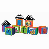 Мягкие кубики в коробке