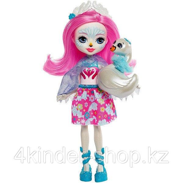 Mattel Enchantimals Кукла с питомцем - Лебедь Саффи - фото 1