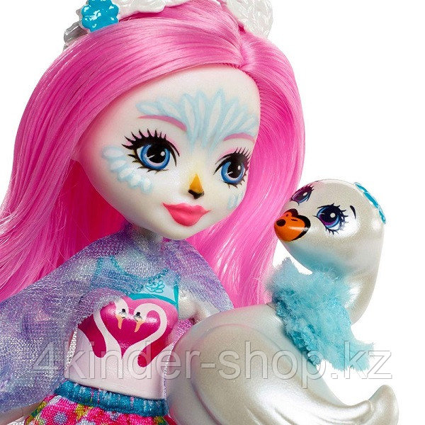 Mattel Enchantimals Кукла с питомцем - Лебедь Саффи - фото 4