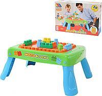57983 Набор игровой с конструктором 20 элементов в коробке зеленый Полесье