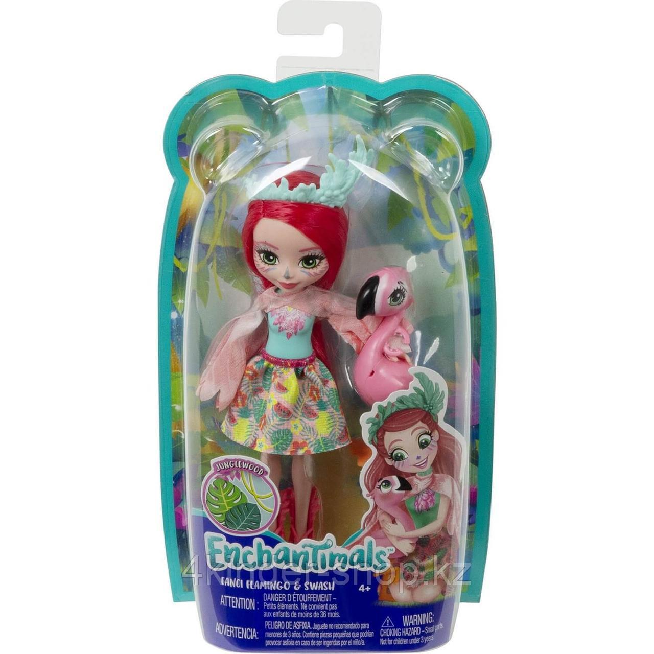 Энчантималс Enchantimals кукла с питомцем Фэнси Флэминг и Свош GFN42 - фото 1