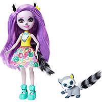 Энчантималс Enchantimals кукла с питомцем Лариса Лемури и Ринглет GFN44