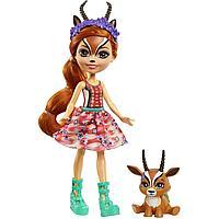 Энчантималс Enchantimals кукла с питомцем Габриэла Газелли и Рейсер GTM26