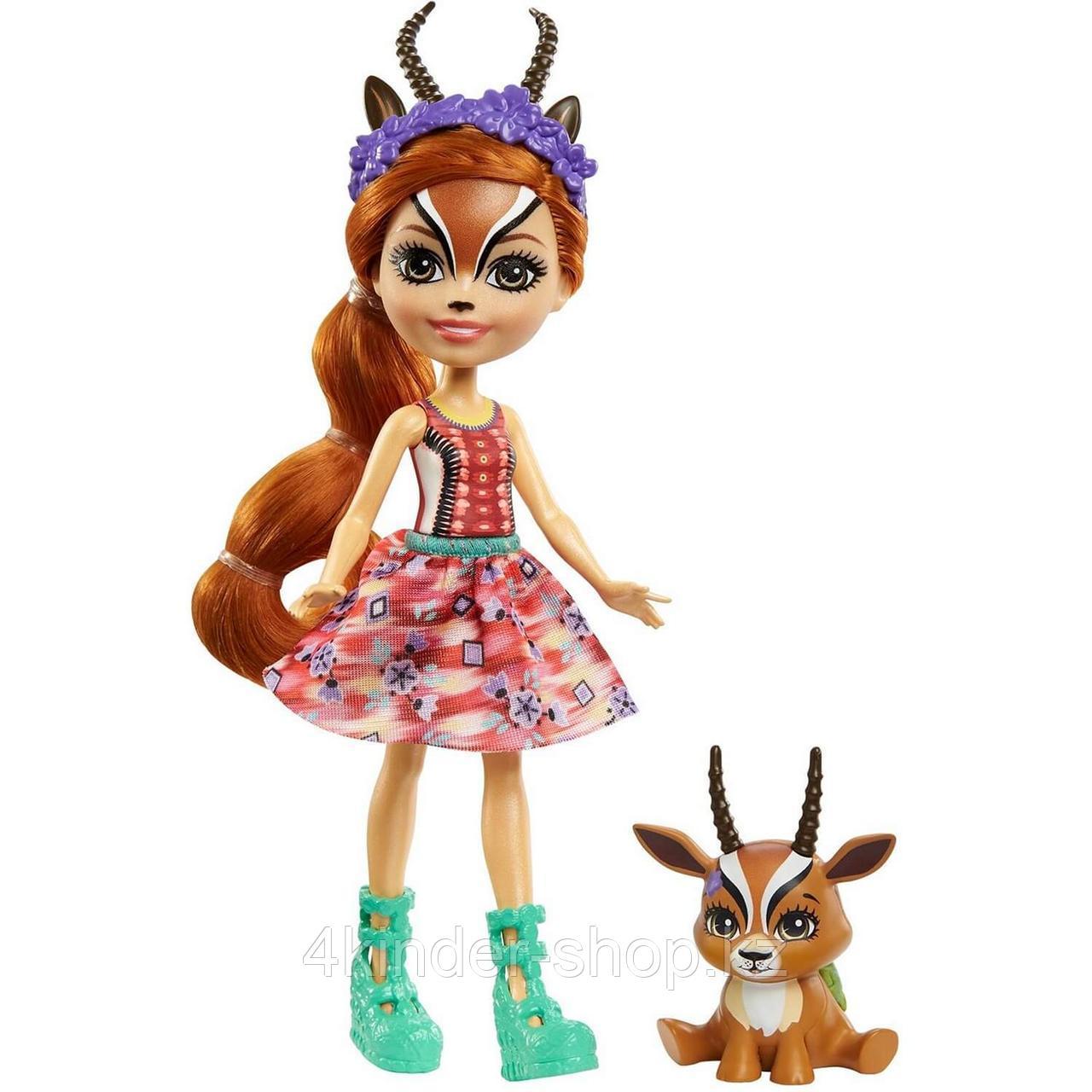Энчантималс Enchantimals кукла с питомцем Габриэла Газелли и Рейсер GTM26 - фото 1