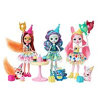 Энчантималс Enchantimals набор из 3х кукол День рождения GJX22