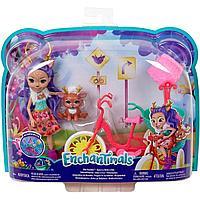 Кукла Enchantimals Данесса Оления с питомцем и транспортным средством GJX30