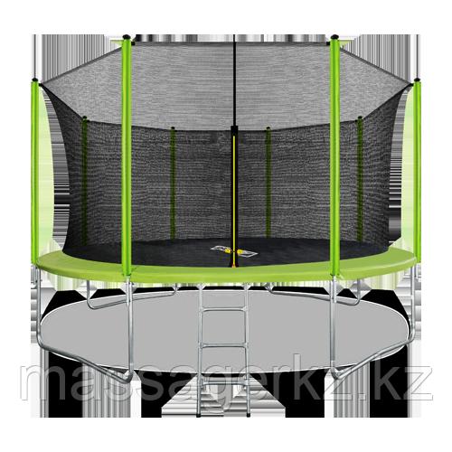 ARLAND Батут 14FT с внутренней страховочной сеткой и лестницей (Light green)