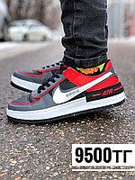 Кеды Nike AF 1 low красно серые