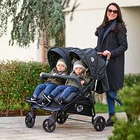 Детская коляска для двойни Lorelli Duo Black Dots 2106