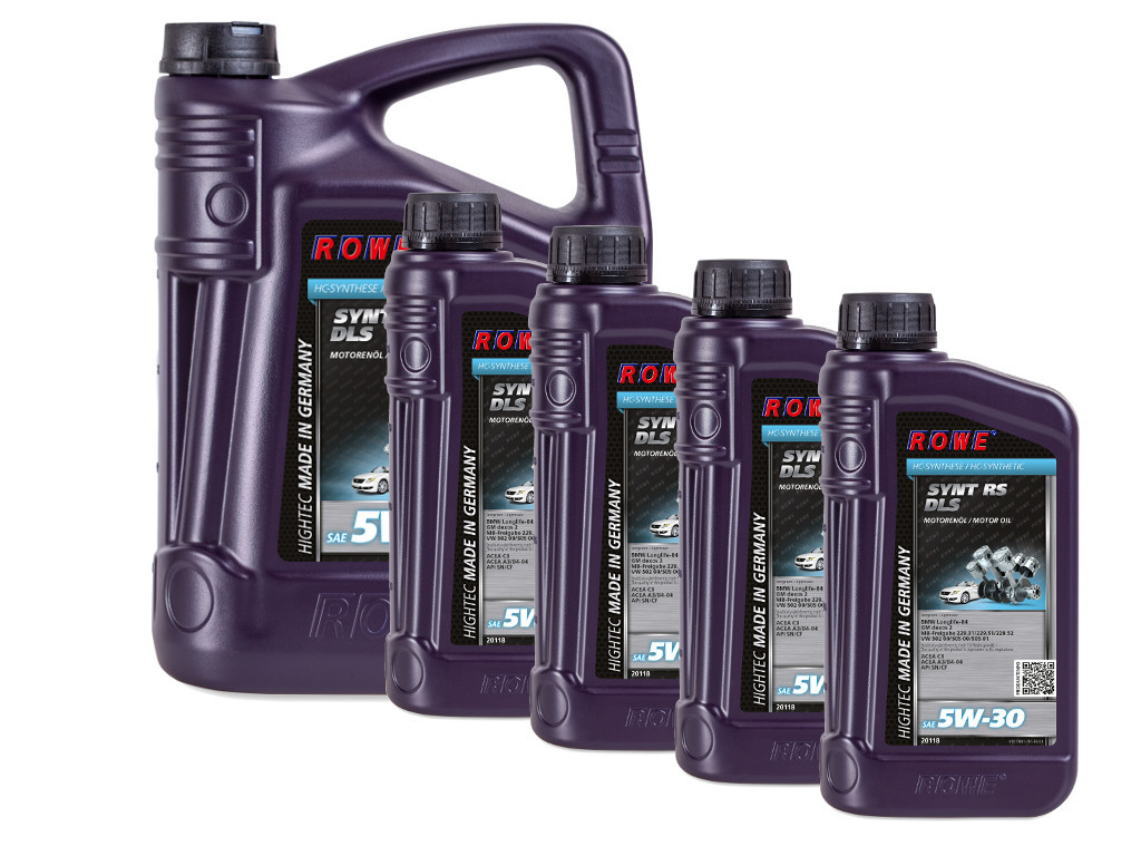 Масло моторное ROWE HIGHTEC SYNT RS DLS SAE 5W-30, 9 литров (5L + 4L)