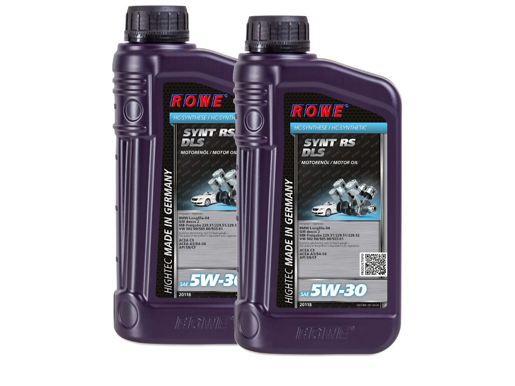 Масло моторное ROWE HIGHTEC SYNT RS DLS SAE 5W-30, 2 литра (2 x 1L)