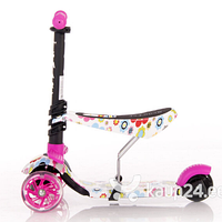 Самокат 3-х колёсный Lorelli SMART Pink FLOWERS