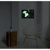 """Светящаяся картина """"Медуза на ножке"""" формата А3"""