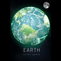 Светящаяся картина Outer Space Космическое пространство Земля