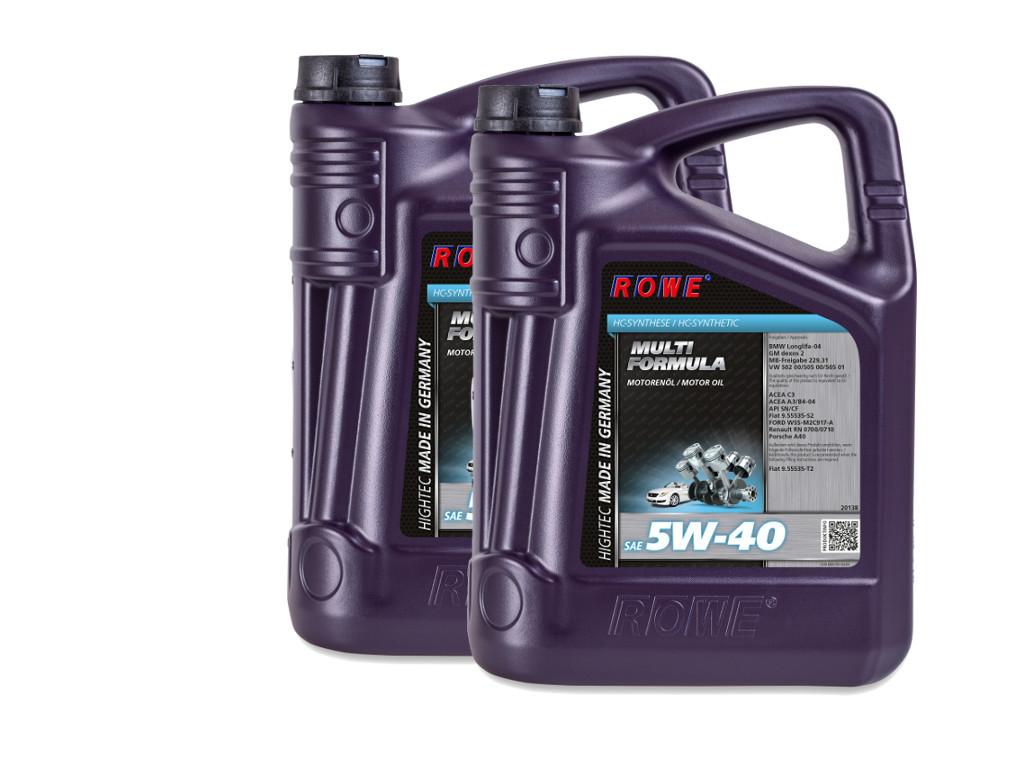 Масло моторное ROWE HIGHTEC MULTI FORMULA SAE 5W-40, 10 литров (2 x 5L)