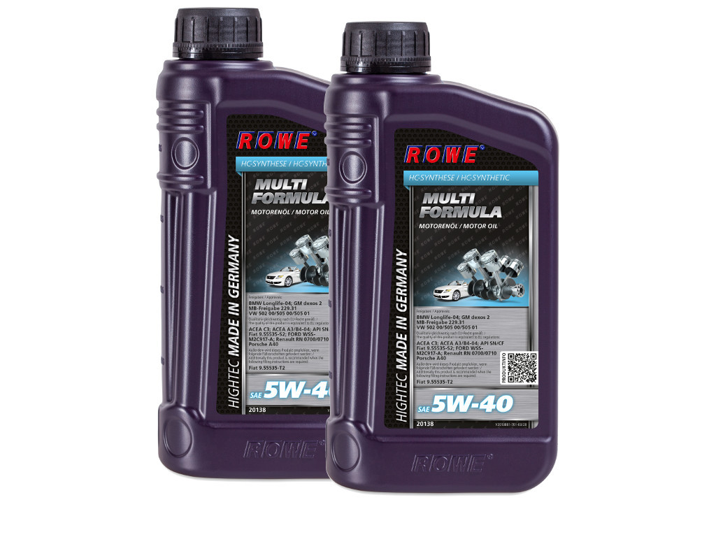 Масло моторное ROWE HIGHTEC MULTI FORMULA SAE 5W-40, 2 литра (2 x 1L)