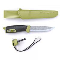 Нож MORAKNIV COMPANION SPARK GREEN / RED (c огнивом и паракордом в комплекте)