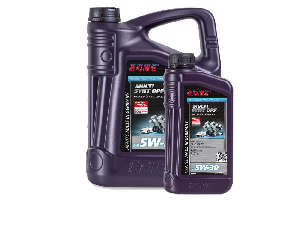 Масло моторное ROWE HIGHTEC MULTI SYNT DPF SAE 5W-30, 6 литров (5L + 1L)