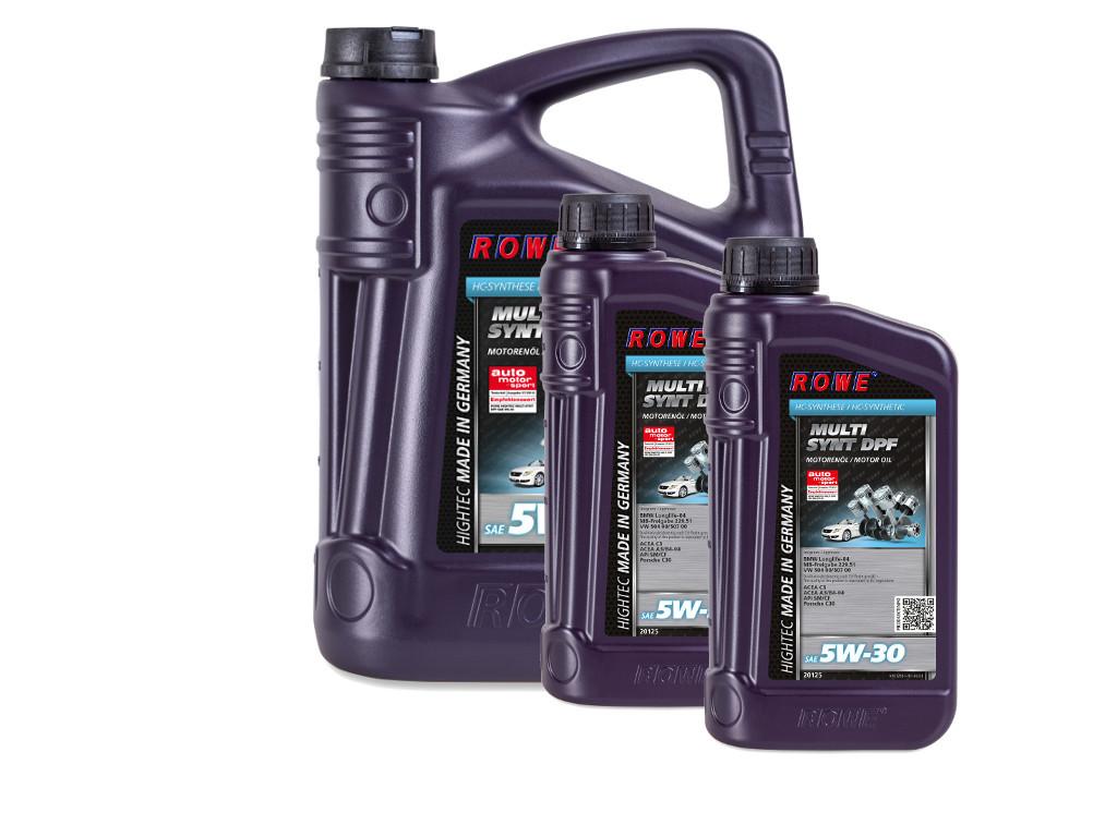 Масло моторное ROWE HIGHTEC MULTI SYNT DPF SAE 5W-30, 7 литров (5L + 2L)