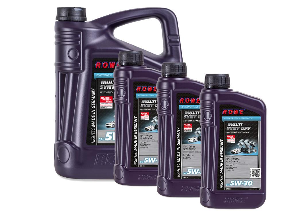 Масло моторное ROWE HIGHTEC MULTI SYNT DPF SAE 5W-30, 8 литров (5L + 3L)