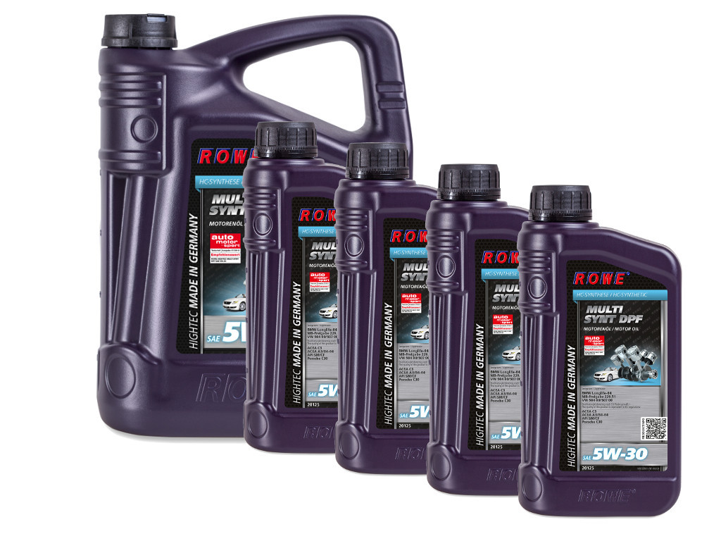Масло моторное ROWE HIGHTEC MULTI SYNT DPF SAE 5W-30, 9 литров (5L + 4L)