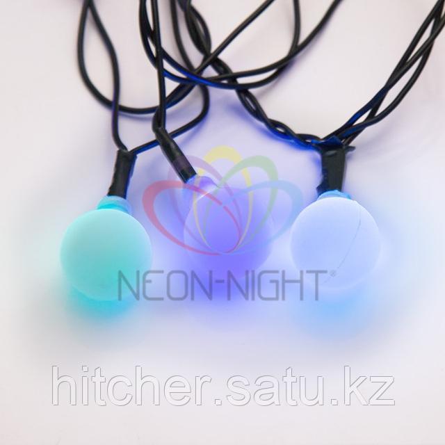 """Световая гирлянда """"Мультишарики"""" - 5 метров, 30 шариков диаметром 18 мм, разноцветная, динамический режим свечения (мерцает)"""