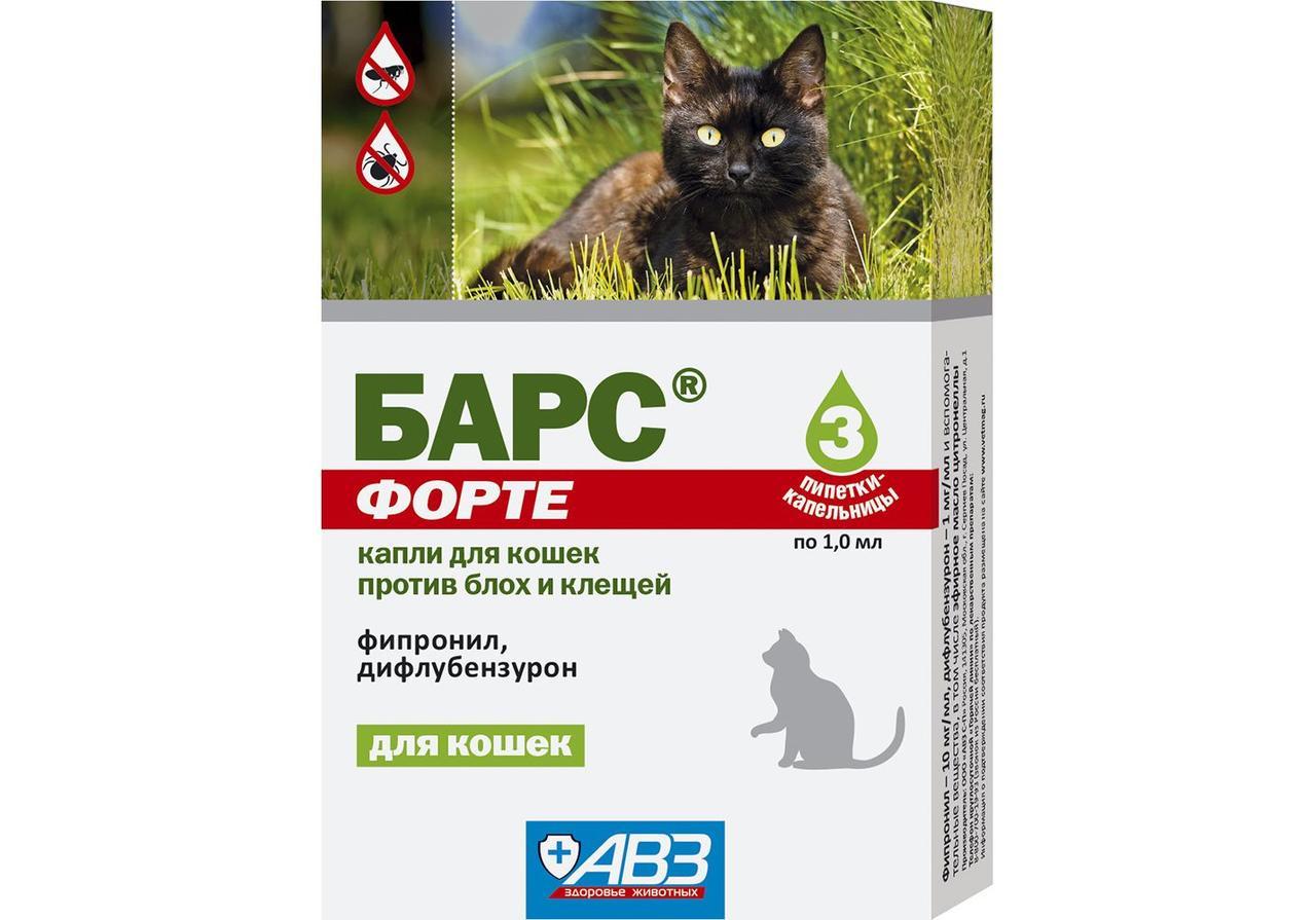 Барс Форте Капли от блох и клещей для кошек