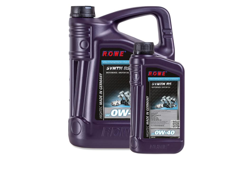 Масло моторное ROWE HIGHTEC SYNTH RS SAE 0W-40, 6 литров (5L + 1L)