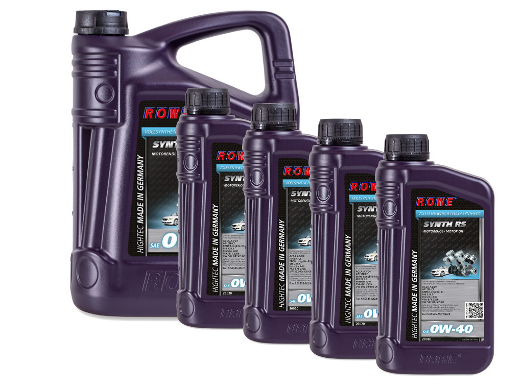 Масло моторное ROWE HIGHTEC SYNTH RS SAE 0W-40, 9 литров (5L + 4L)