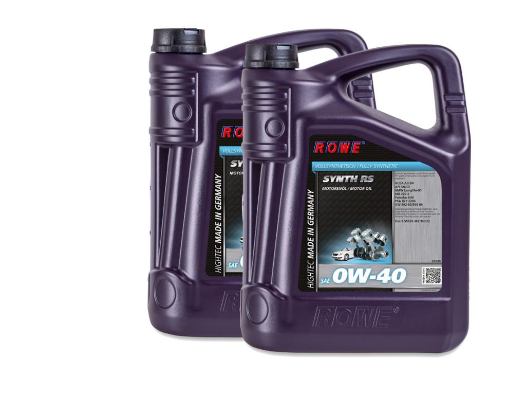 Масло моторное ROWE HIGHTEC SYNTH RS SAE 0W-40, 10 литров (2 x 5L)