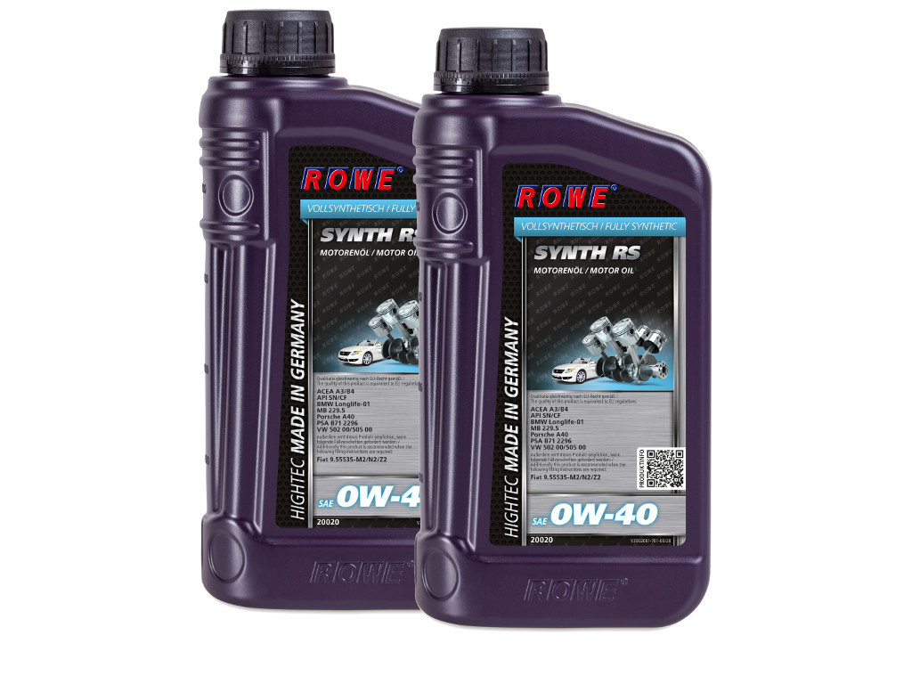 Масло моторное ROWE HIGHTEC SYNTH RS SAE 0W-40, 2 литра (2 x 1L)