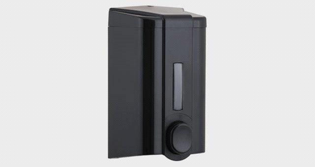 Диспенсер (дозатор) для жидкого мыла Vialli S4B (чёрного цвета) 1000мл.