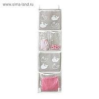 Карманы подвесные для шкафчика в детский сад, Insta Киты