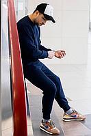 Мужской осенний трикотажный синий спортивный большого размера спортивный костюм GO M3007/20-04.176-182 44р.