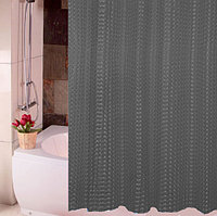 Водонепроницаемая шторка для ванной полупрозрачная 3D Shower curtain 180x180 см черная