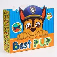 Пакет ламинат горизонтальный 'Best pup', Щенячий патруль, 31х40х11 см